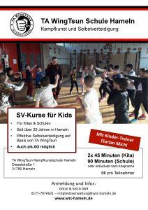 SV-Kurs TA WingTsun Kinder Schulen Kindergarten Kitas Hameln Selbstverteidigung